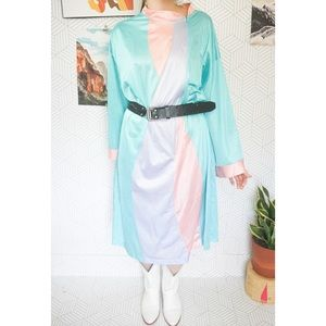 Vintage Vanity Fair Poly Satin zip up robe